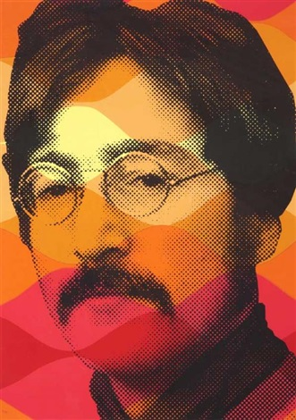vintage lennon by mr brainwash