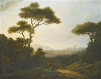 a distant view of rome from the north by william marlow