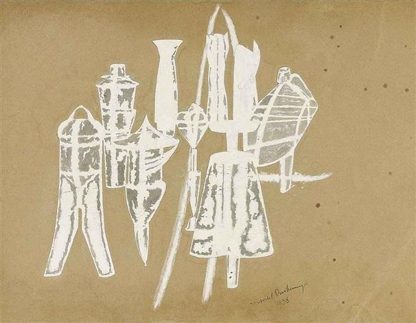 9 moules mâlic étude by marcel duchamp