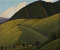 mountain landscape by ernest browning smith