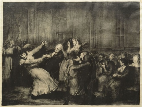 dance in a madhouse by george wesley bellows