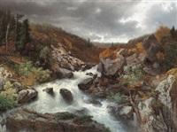 reissender gebirgsbach by adolf obermüllner