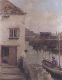 st. ives harbour by george edward robertson