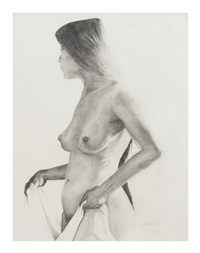 untitled (female nude) by steven assael