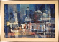 abstract cityscape by paul august kontny