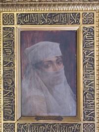 portrait d'une orientale voilée by albert aublet