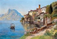 an einem oberitalienischen see by gottfried arnegger