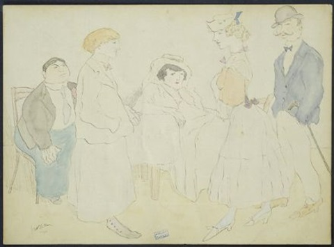conversation by jules pascin