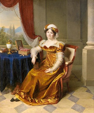 portrait of lady madame masbou by firmin massot