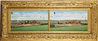 deux vues de steeple chase à auteuil en 1895 by jules vittaly