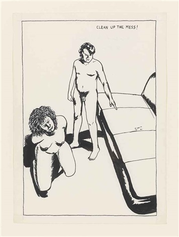 no title (clean up the...) by raymond pettibon