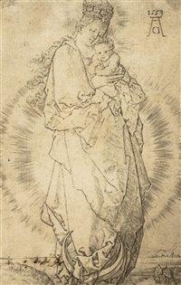 madonna mit dem kinde (+ herakles und cerberos; 2 works) by heinrich aldegrever