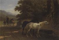 la conduite des chevaux à l'abreuvoir by paul van der vin