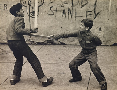 untitled boys fencing by lou bernstein