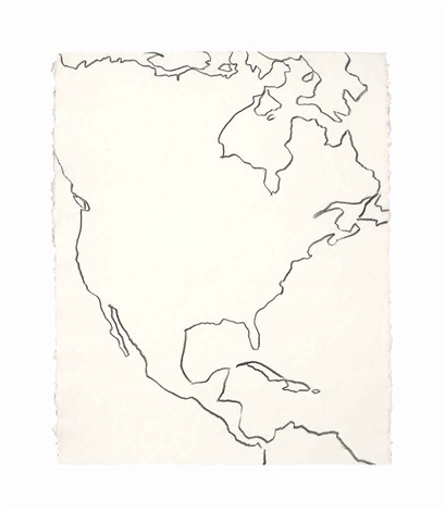 Map Outline of North, Central and Northern South America by ...