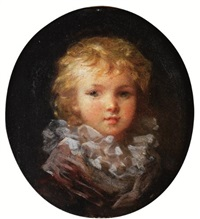 portrait of a child by marguerite gérard
