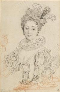 portrait de la comtesse d'olonne by alexis grimou