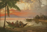 sunset at manila bay by fernando cueto amorsolo