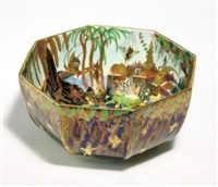 woodland elves vii - toadstool bowl (from fairy in a cage series) by wedgwood