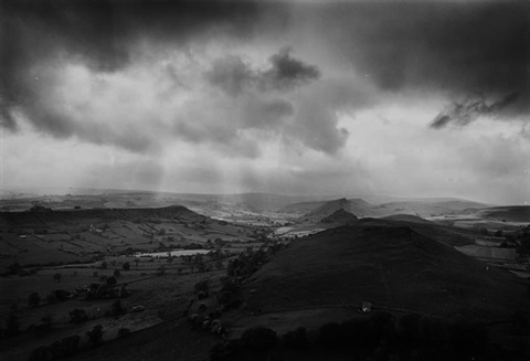 alderley cliff towards chrome hill derbyshire by john davies