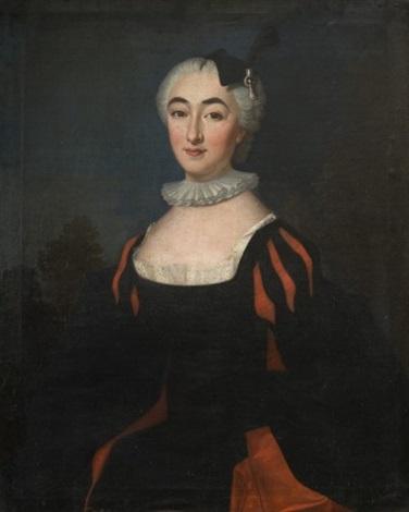 portrait de jeune femme en tenue espagnole by jean baptiste santerre