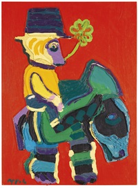 a donkey too gentle for the cruel children by karel appel