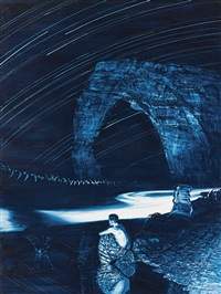 study for clockwork by mark tansey