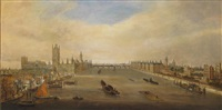 westminster and lambeth seen from the thames by john macvicar anderson