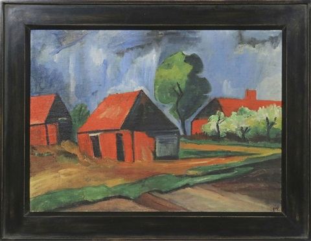 Rote Häuser Bilder rote häuser by max pechstein on artnet