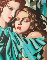 les juines (after tamara de lempicka) by monique la rue