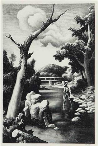 shallow creek by thomas hart benton