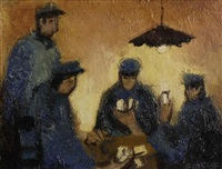 card players by claude quiesse
