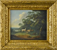 landscape with deer by arthur fitzwilliam tait