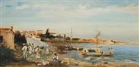 on the shore near naples by robert alott