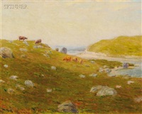 pasture by the shore by charles henry hayden