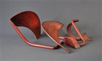 curved steel sculpture by russell mcquilty