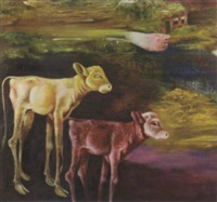 landscape with cows by melle