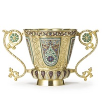 a two-handled vase by antip ivanovich kuzmichev