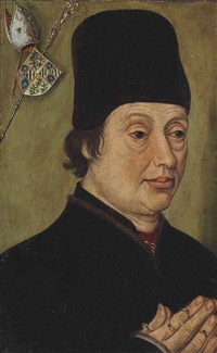 portrait of jean de bourgogne, bishop of cambrai by roger van der weyden