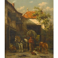 stable scene by willem jacobus boogaard