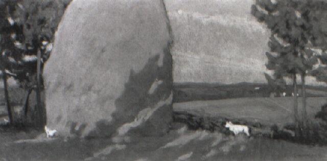 pagliaio a fauglia by giorgio kienerk