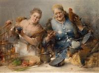 geflügelhändlerinnen by karl von merode