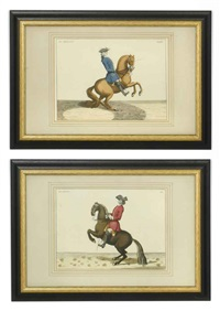 horses (after baron d'eisenberg) (6 works) by bernard picart