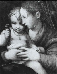 the madonna and child by pomponio allegri
