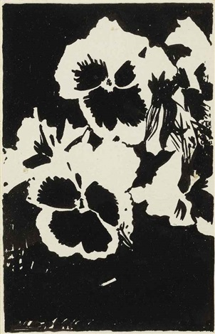 untitled black pansies by joe brainard