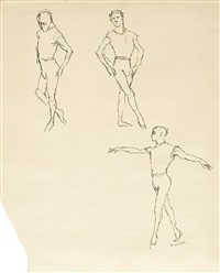 study of three male dancers by maurice sendak