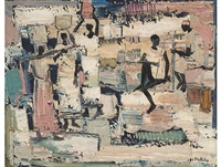 african figures by walter whall battiss