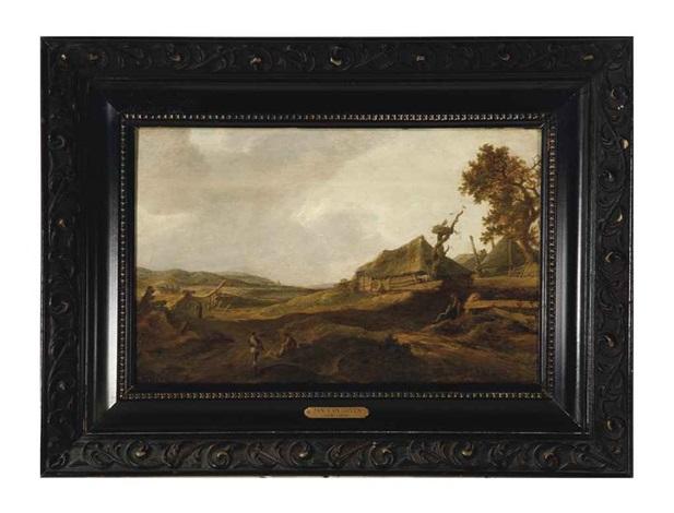 landscape with peasants resting among the dunes by jan josefsz van goyen