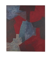 bleu rouge gris vert (blue, red, grey, green) by serge poliakoff