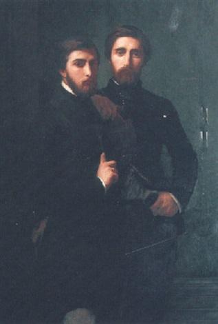 portrait de jean baptiste et rené dassy by hippolyte jean flandrin